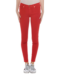 7 FOR ALL MANKIND Skinny Crop Red