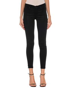7 FOR ALL MANKIND Skinny Crop Coated Sateen Black