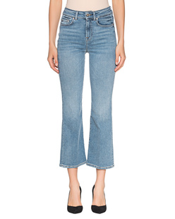 7 FOR ALL MANKIND Cropped Boot Unrolled Blue