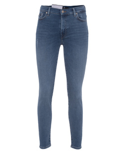 7 FOR ALL MANKIND Skinny Crop Slim Illusion Countdown Blue