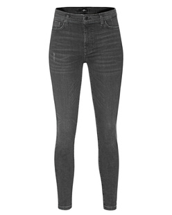 7 FOR ALL MANKIND Skinny Crop Slim Illusion Epic Black