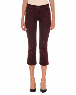 7 FOR ALL MANKIND Corduroy Cropped Bordeaux