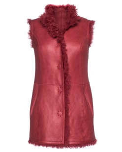CTRL YOU BY JONATHAN CUKIERMAN Reverse Gilet Red