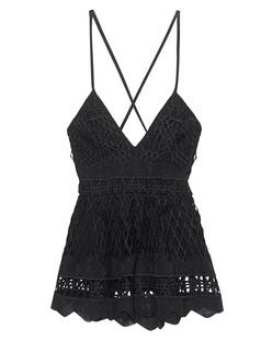 Kendall + Kylie Baby Doll Crochet Black