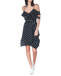 Kendall + Kylie Cut Out Stripes Navy