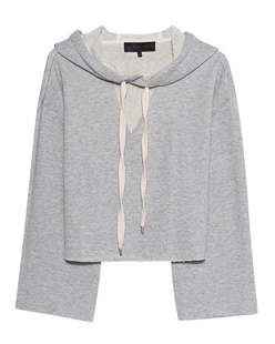 Kendall + Kylie Hooded Destroyed Heather Grey