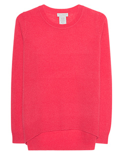 OATS Cashmere Kendra Round Neck Coral
