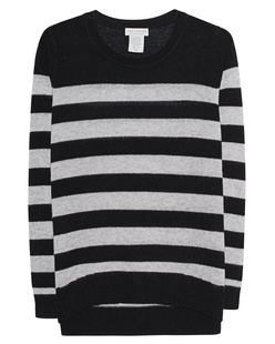 OATS Cashmere Kendra Stripe Black