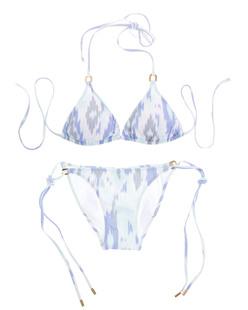Melissa Odabash Keywest Ikat Blue White