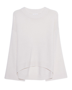 JADICTED Cosy Loose Fit Cashmere Off White
