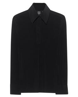 NORMA KAMALI Polo Long Sleeve Black