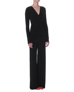 NORMA KAMALI Shirred Waist Jumpsuit Black