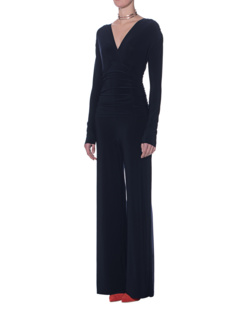 NORMA KAMALI Shirred Waist Jumpsuit Midnight