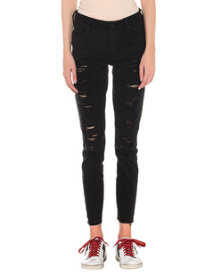 Kendall + Kylie Skinny Destroyed Black