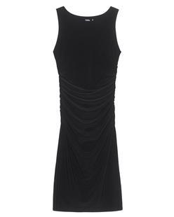 NORMA KAMALI Sleeveless Shirred Waist Dress Black