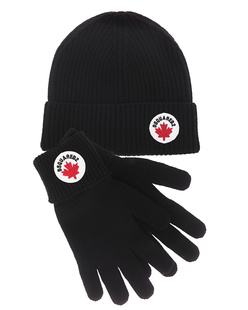 DSQUARED2 Beanie Gloves Set Black