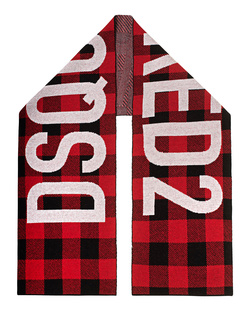 DSQUARED2 Logo Checked Red