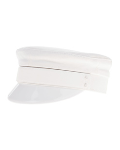 Ruslan Baginskiy Baker Boy Cap White Leather