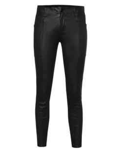 J BRAND L1290 Leather Byrnes Skinny Cargo Black