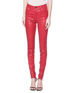 J BRAND Maria High Rise Leather Skinny Red