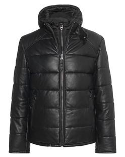 Schott NYC Down Leather Black