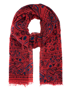 ALBEROTANZA Light Pashmina Pattern Red Blue