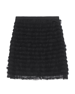 RED VALENTINO Net Lace Black