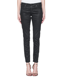 AG Jeans The Legging Ankle Vintage Leatherette Black