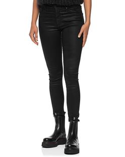 AG Jeans Farrah Skinny Ankle Coated Black