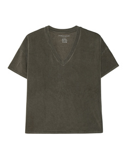 Majestic Filatures  V Neck Soft Touch Khaki