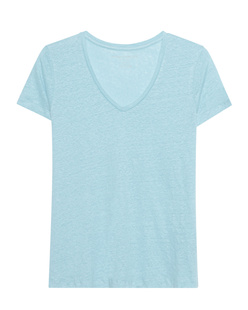 Majestic Filatures  V Neck Linen Dream Blue