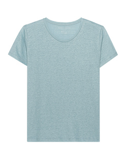 Majestic Filatures  Linen Crew Neck Baby Blue