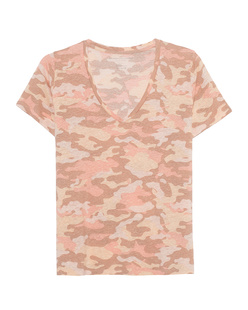 Majestic Filatures  V Neck Camouflage Rose