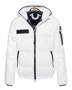 TRUE RELIGION Hooded Down Outdoor White