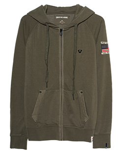 TRUE RELIGION Hooded Zipper Dusty Olive