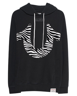 TRUE RELIGION Zebra Hood Black