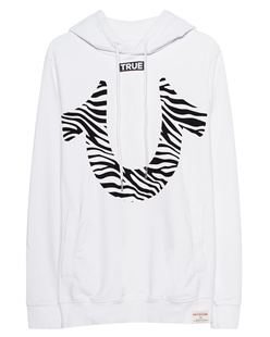 TRUE RELIGION Zebra Hood White