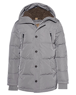 TRUE RELIGION Down Parka Steel Grey