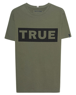 TRUE RELIGION  Block Logo Olive