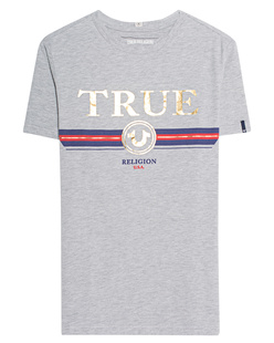 TRUE RELIGION Label Front Mottled Grey