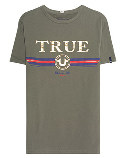 TRUE RELIGION Label Front Olive