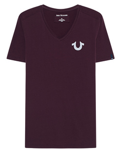 TRUE RELIGION V-Neck Reflective Bordeaux