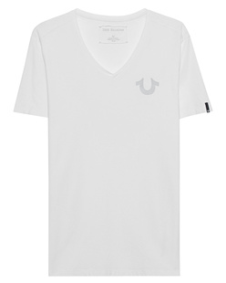 TRUE RELIGION V-Neck Reflective White