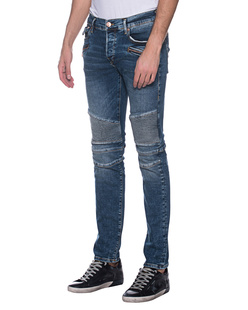 TRUE RELIGION Rocco Biker Blue