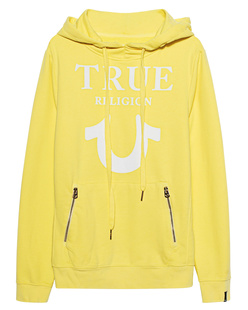 TRUE RELIGION Hoodie Puffy Yellow