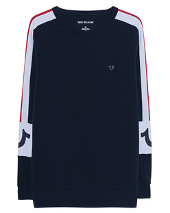 TRUE RELIGION Contrast Stripe Navy
