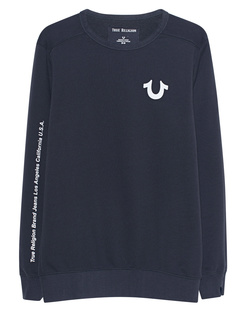 TRUE RELIGION Crew Reflective Print Anthracite