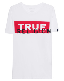 TRUE RELIGION Crew Shirt True Block White