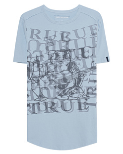 TRUE RELIGION Allover Print Light Blue