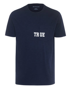 TRUE RELIGION  Pocket Logo Navy